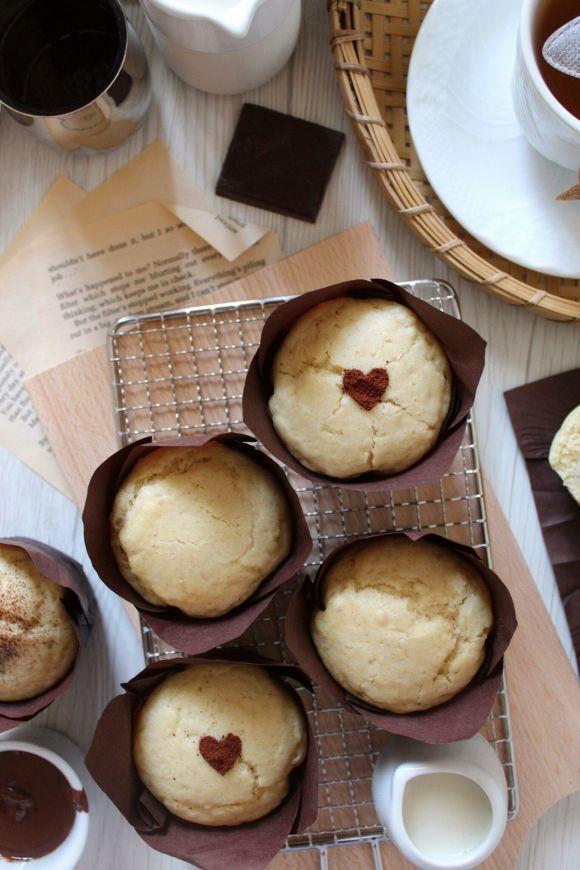 Muffin con nocciolata vegan