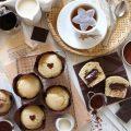 Muffin con cuore di nocciolata vegan