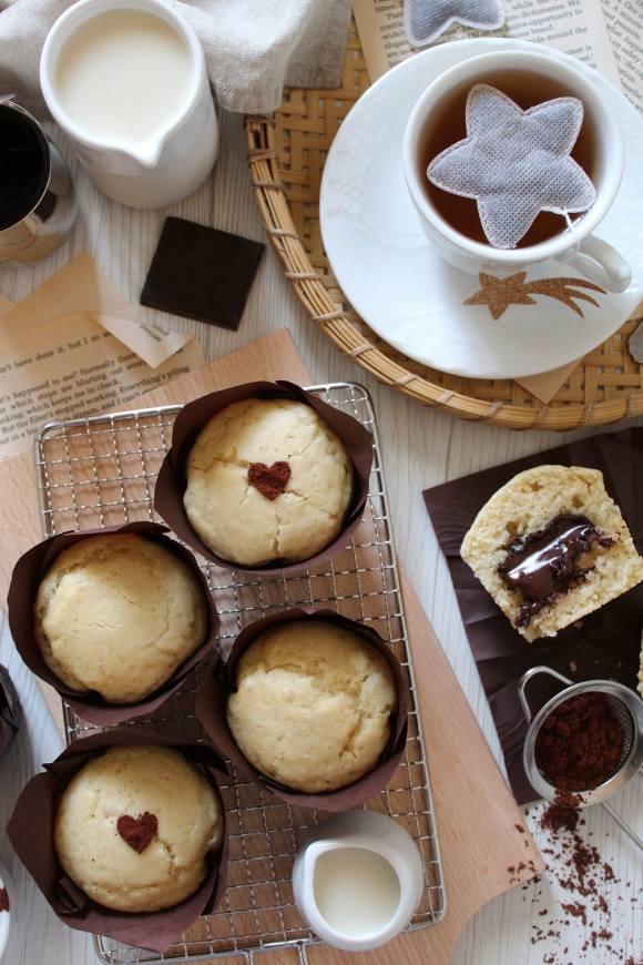 Muffin di nocciolata vegan