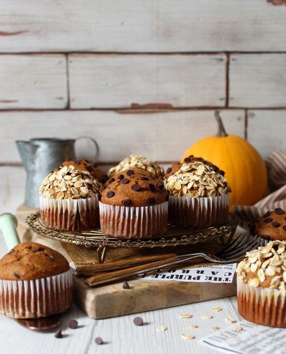 Muffin di zucca senza burro