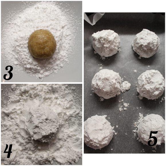 procedimento Biscotti crinkles al cocco e mandorle vegan