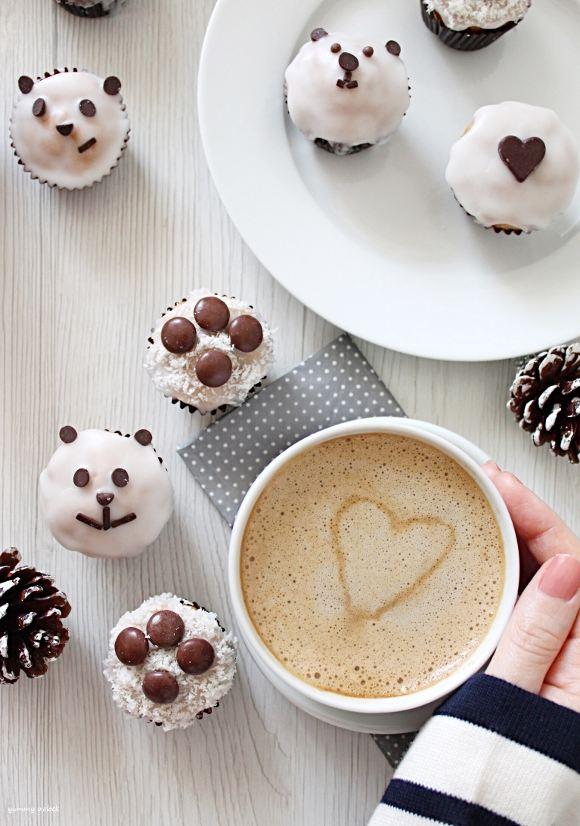 Mini muffins con glassa di zucchero senza burro.