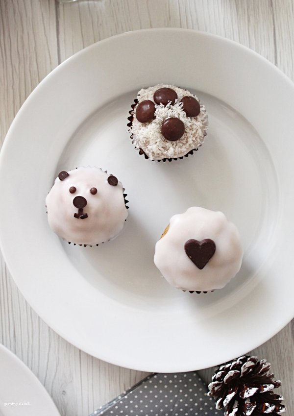 Mini muffins con glassa di zucchero