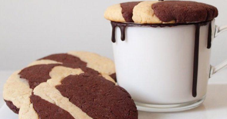 Biscotti marmorizzati vegan