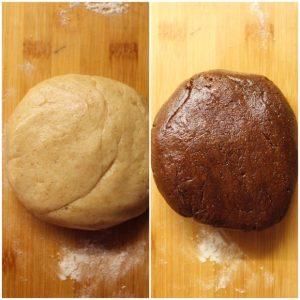 Biscotti marmorizzati preparazione