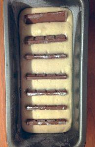 Plumcake con barrette al cioccolato senza uova senza burro 7