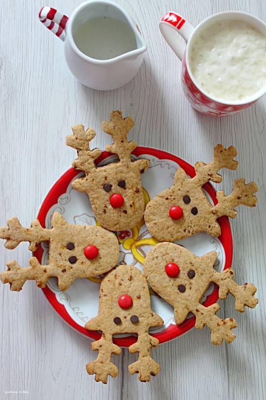 Rudolph cookies senza uova senza burro 4
