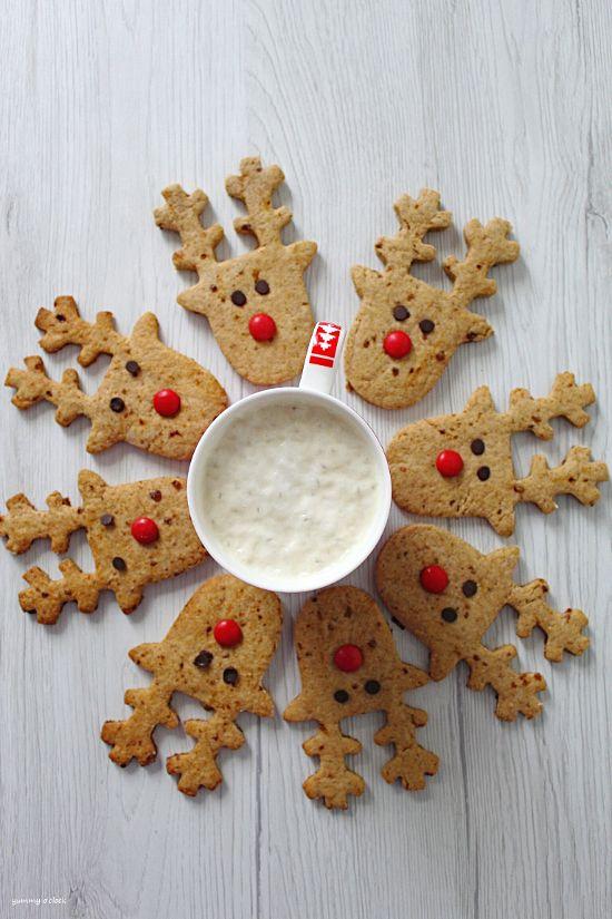 Rudolph cookies senza uova senza burro 5