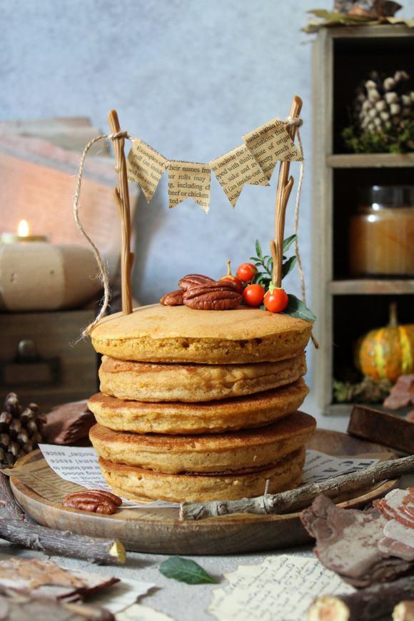 Pancakes alla zucca vegani