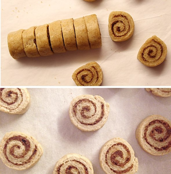 Mini cinnamon roll cookies vegan 13
