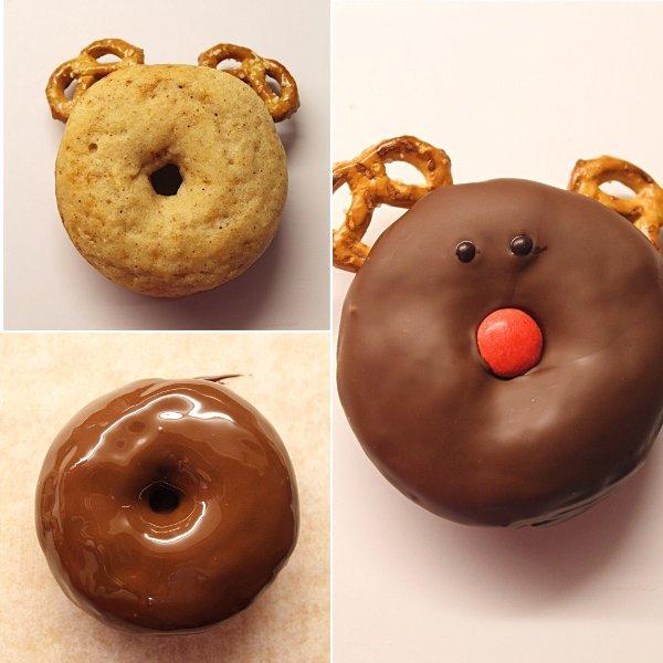 Snowman reindeer donuts senza uova senza burro 17