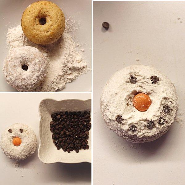 Snowman reindeer donuts senza uova senza burro 18