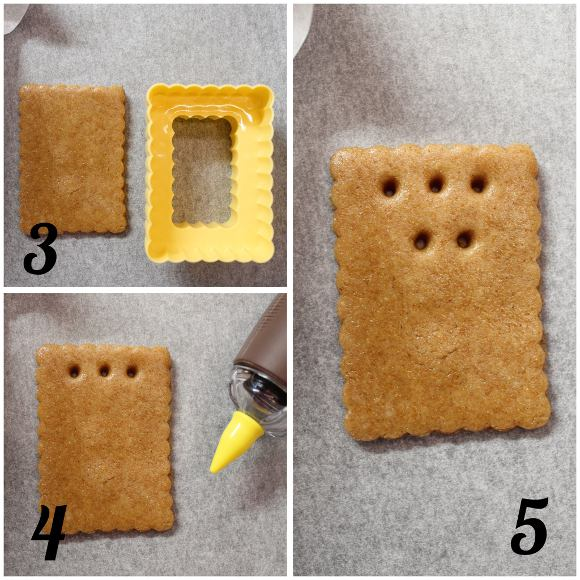 preparazione Graham crackers senza uova e senza burro