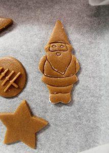 preparazione Christmas speculoos cookies senza burro
