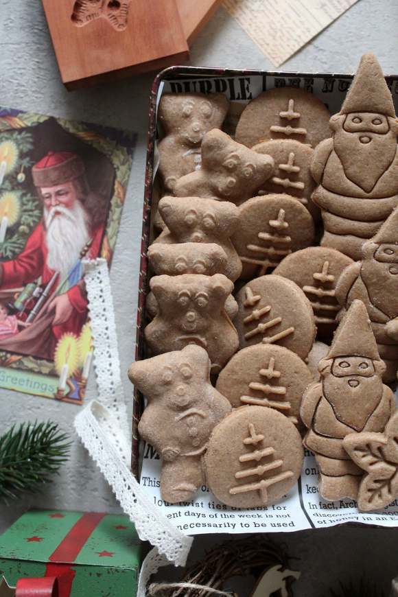 Christmas speculoos biscotti senza burro