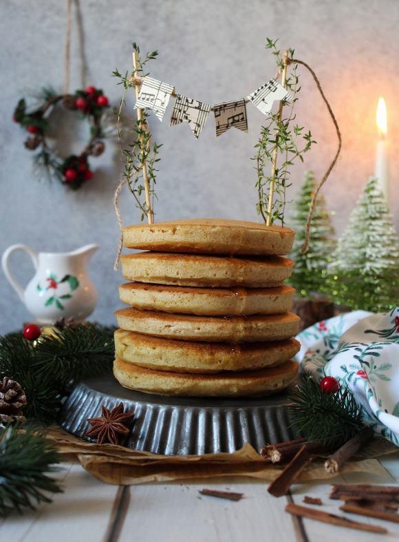 Pancakes al latte di soia senza uova senza burro