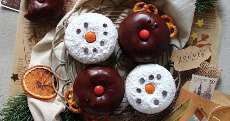 Donuts Renne e Pupazzi di Neve senza uova senza burro