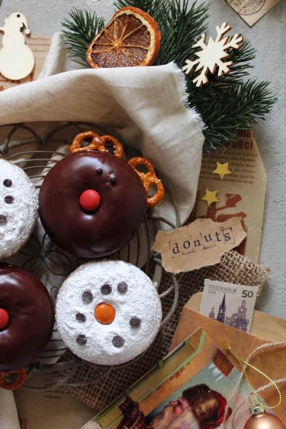 Donuts Renne e Pupazzi di Neve