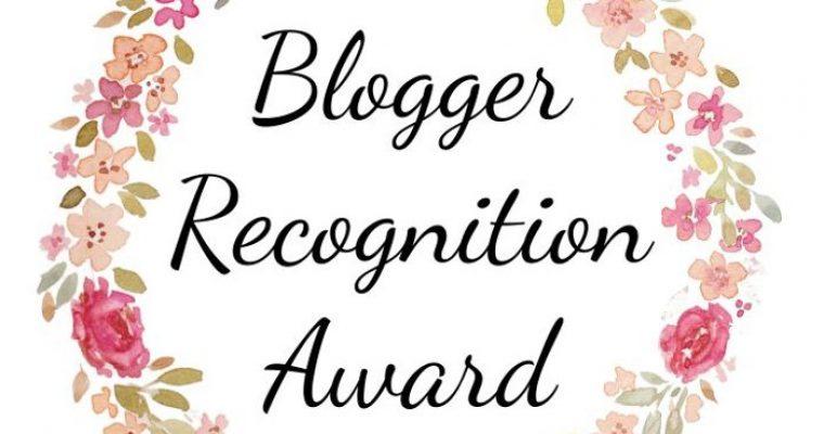 Blogger Recognition Award!Grazie!