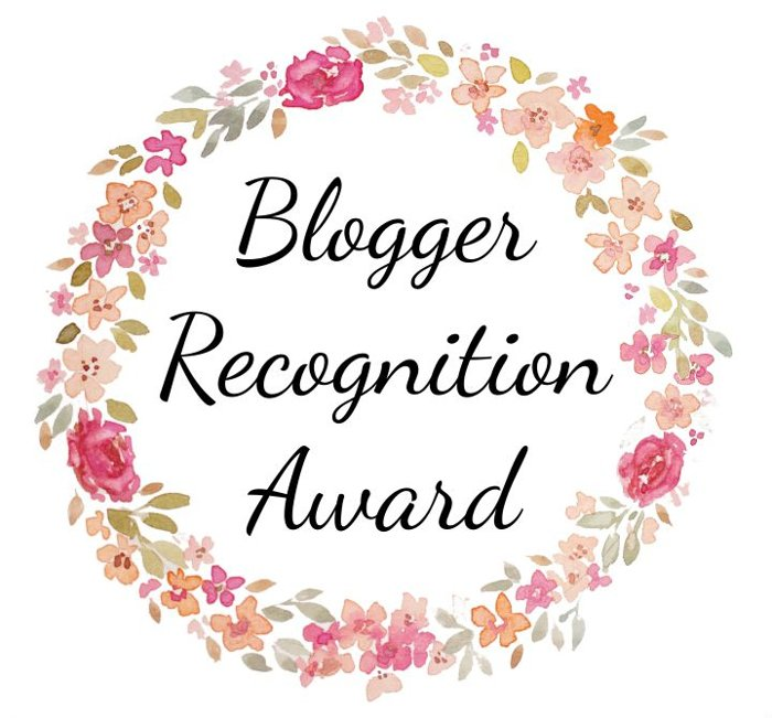 Blogger Recognition Award!Grazie!