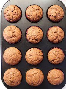 Mini Muffins al cioccolato vegan cottura
