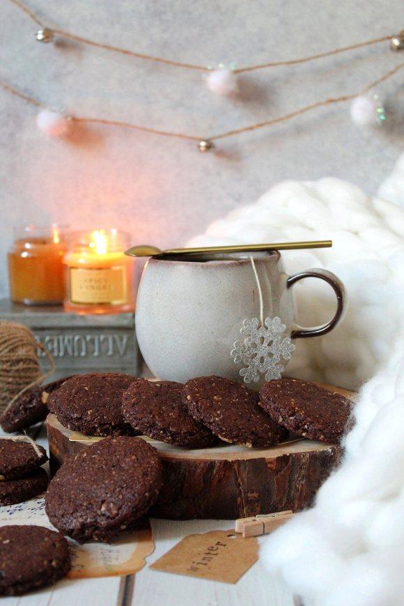 Biscotti simil Grancereale al cioccolato vegan fatti in casa