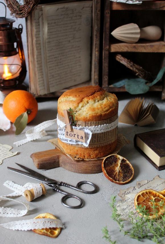 mini torta al succo d'arancia vegan