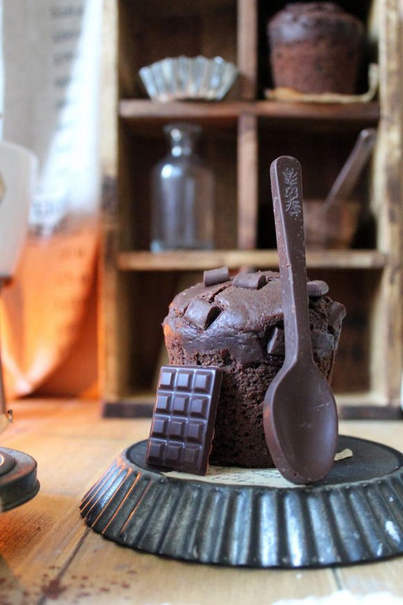Muffins al triplo cioccolato senza burro