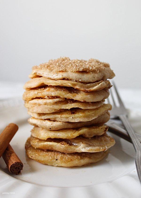 pancakes anelli di mela
