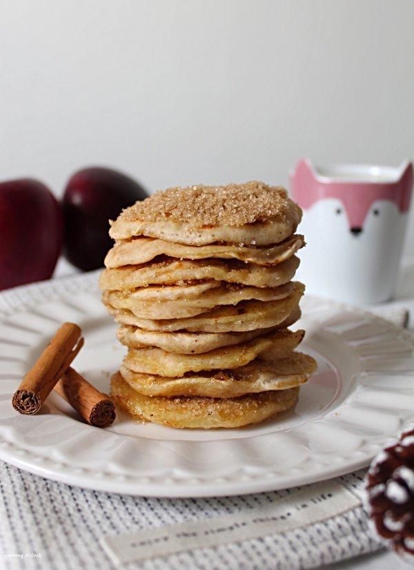Apple ring pancakes con anelli di mela