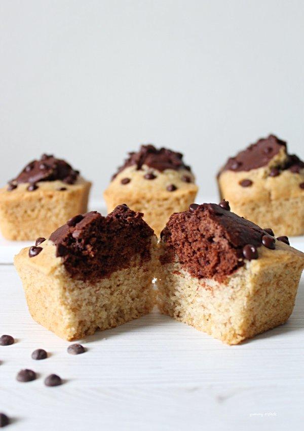 Mini plumcake vaniglia e cacao con gocce di cioccolato vegan