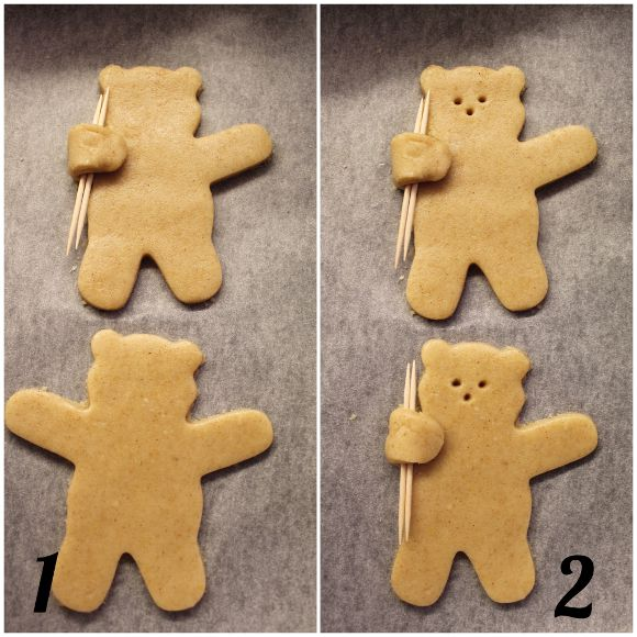 Biscotti Orsetto vegan preparazione
