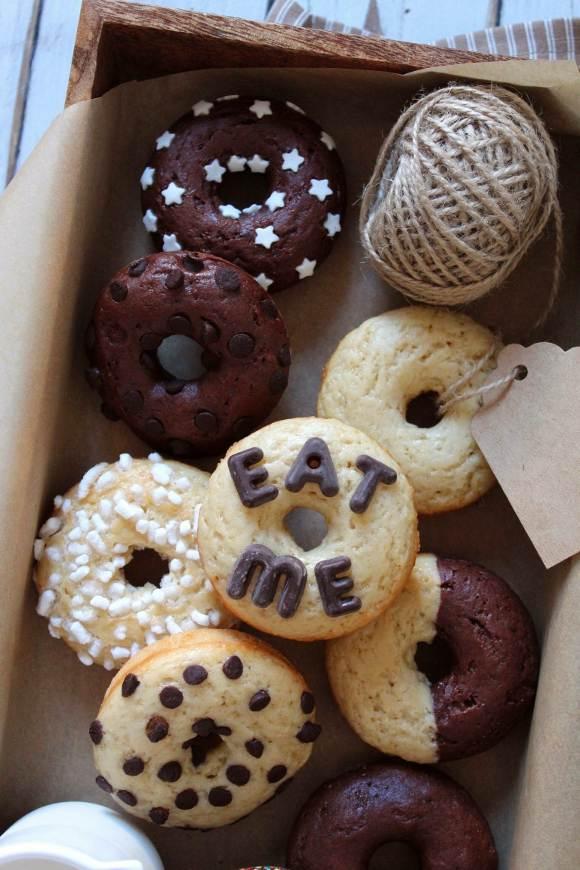 Donuts al forno veloci senza burro senza uova