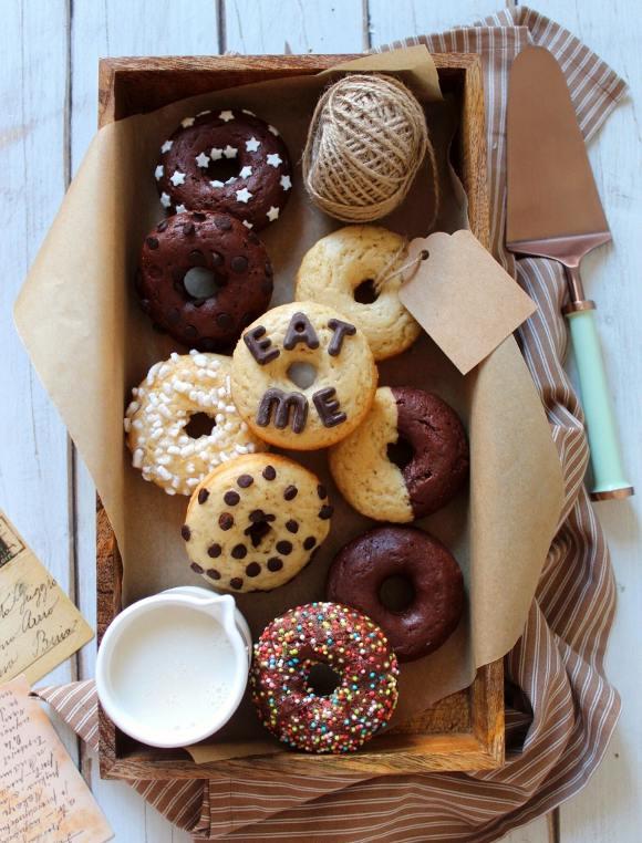 Donuts al forno veloci senza uova senza burro