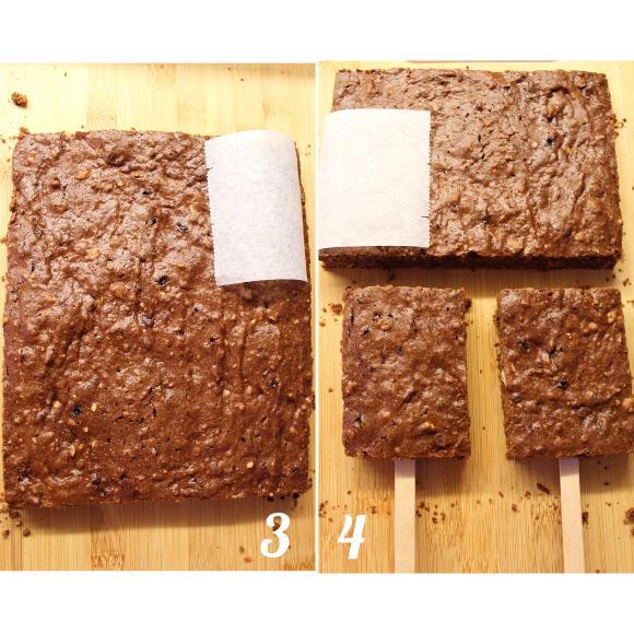 procedimento per formare i brownie pops