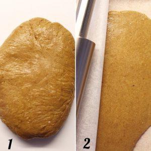 procedimento per la frolla dei biscotti vegan