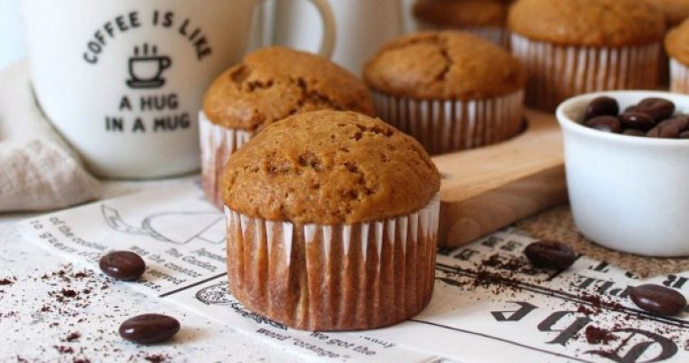Muffin al caffè senza uova senza burro