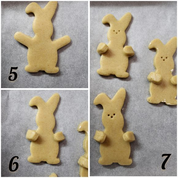 procedimento n°3 dei Biscotti Coniglietto senza uova senza burro