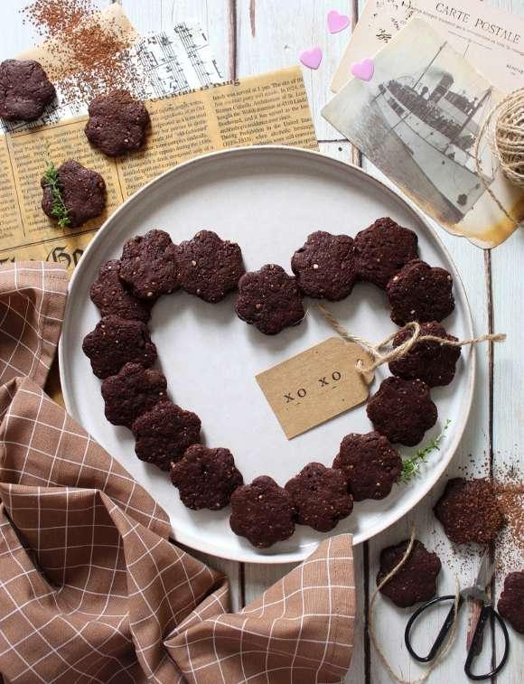 Biscotti con riso soffiato e cacao simil Misura