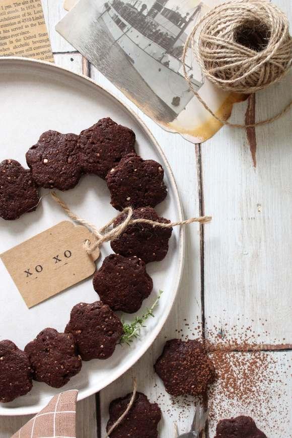 Biscotti con riso soffiato e cacao simil misura homemade