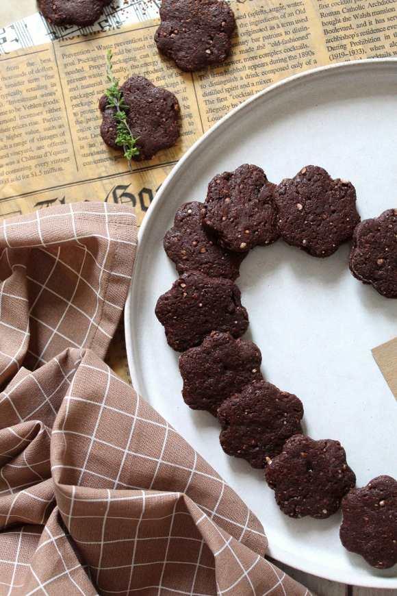 Biscotti al cacao con riso soffiato simil misura