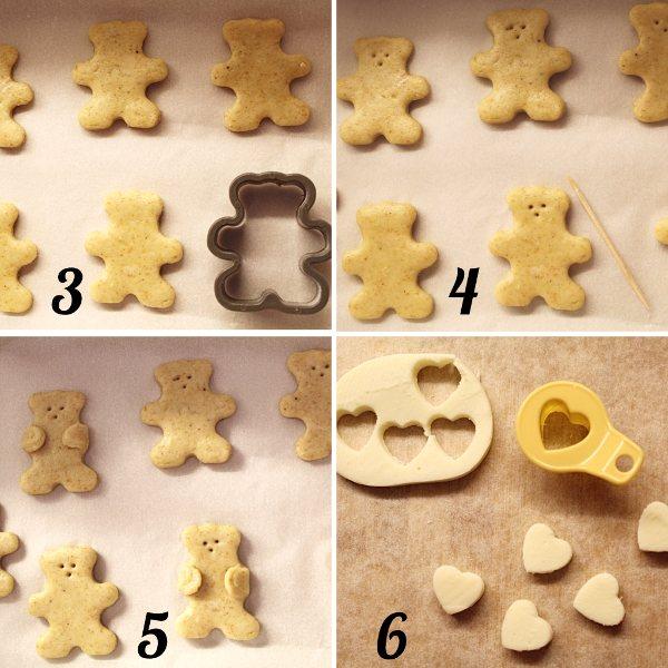 come formare i biscotti orsetto al formaggio