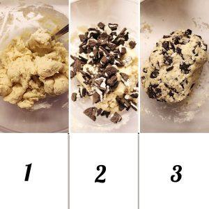 procedimento per il panetto dei cookies and cream
