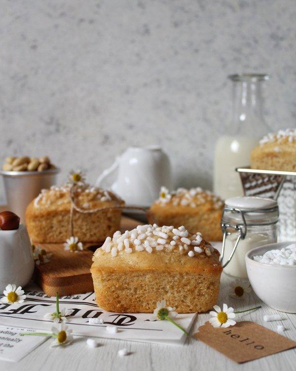 Mini plumcake simil buondì con latte vegetale senza lievitazione e senza uova
