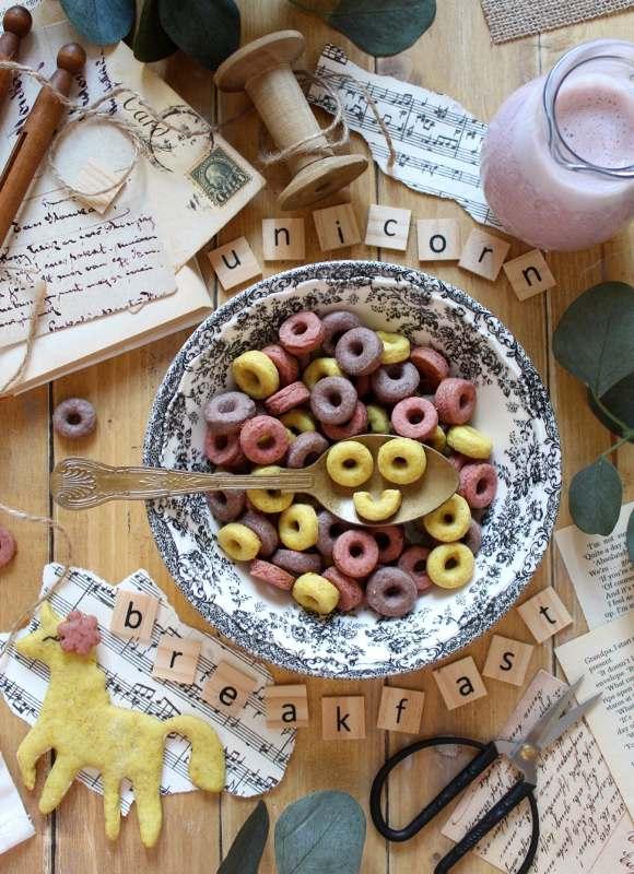 Cereali unicorno alla frutta: homemade vegan froot loops