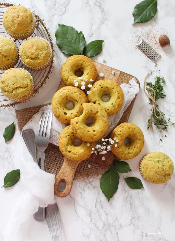 Muffin e Ciambelle con olio evo alle zucchine senza uova