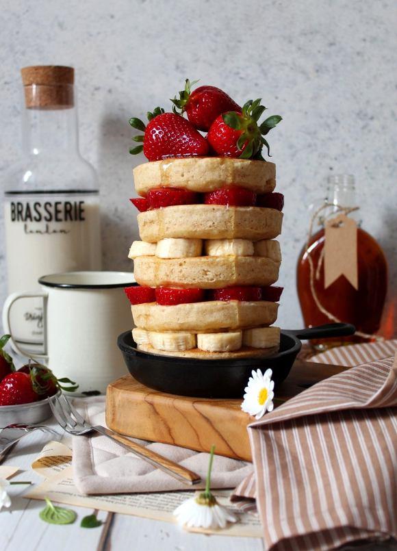Pancakes con latticello vegetale senza uova