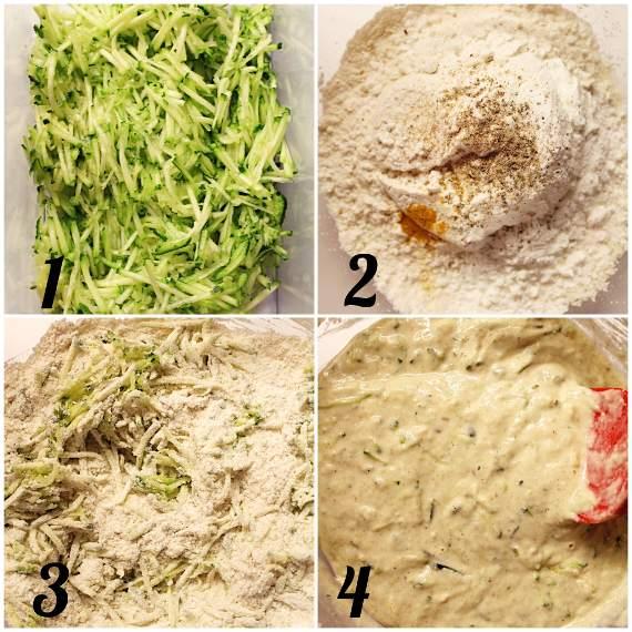 preparazione Muffin e Ciambelle alle zucchine senza uova