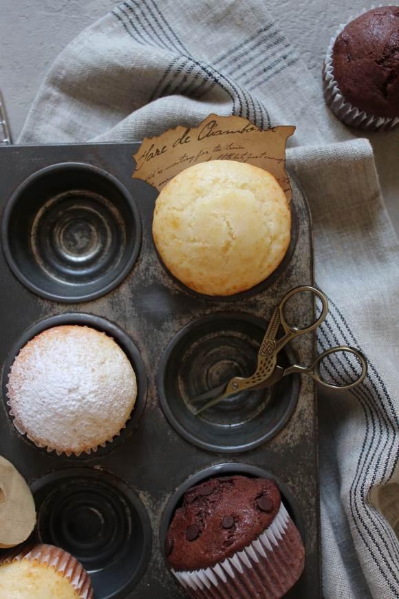 Muffin latte condensato cacao e vaniglia senza uova senza burro