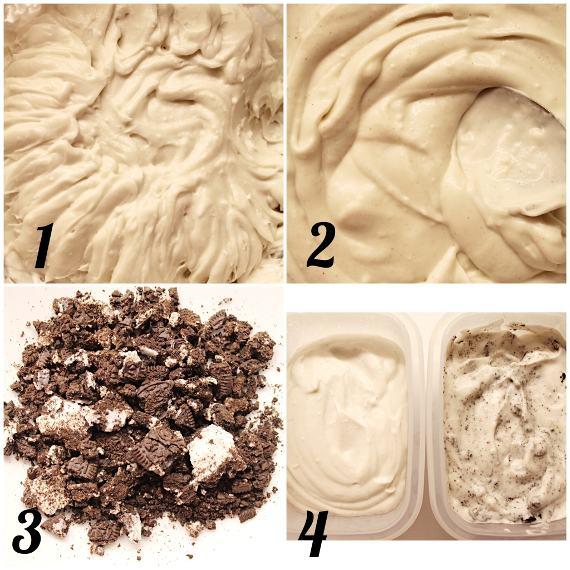 Frozen Yogurt Vaniglia e Oreo senza gelatiera procedimento